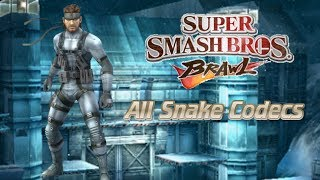 Super Smash Bros. Brawl: All Snake Codecs (Celebrate 1,000+ Subscribers!)