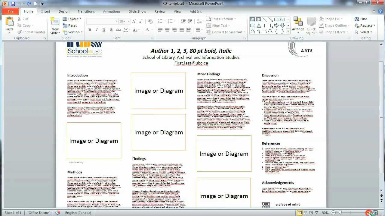 how to design a research poster 3 editing the ischool powerpoint