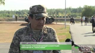 Военное шоу показали на открытии чемпионата по танковому биатлону
