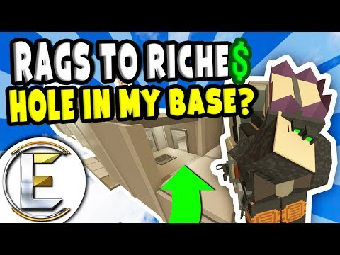 Big Hole In My Base? | Unturned Roleplay Survival (Rags to Riches Reboot #25) - A Failed Raid (RP)