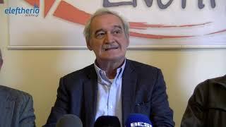 Ο ευρωβουλευτής Νίκος Χουντής στην Καλαμάτα