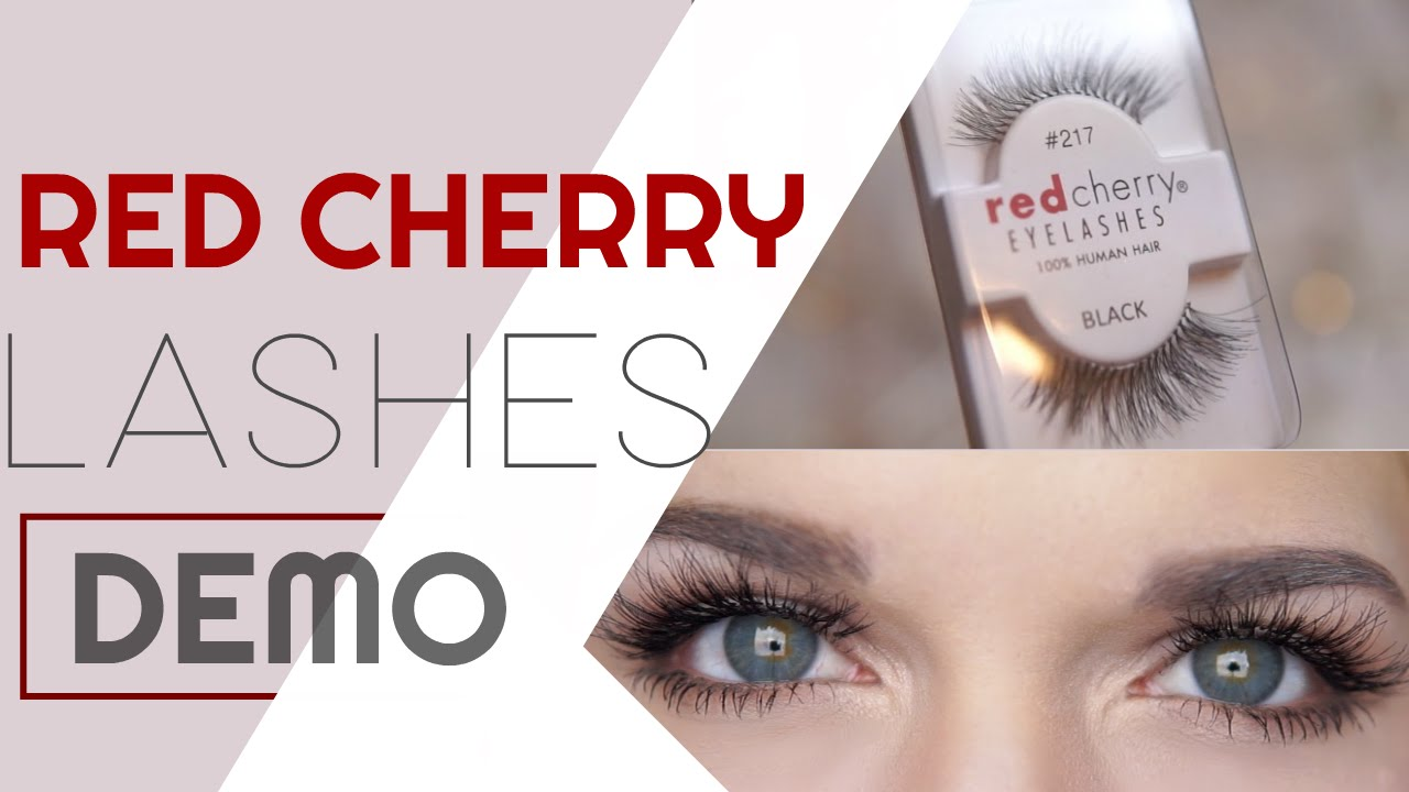 Red Cherry Lashes Demo Try On Youtube