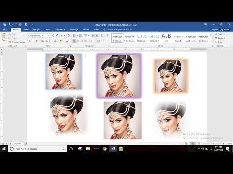 How to Glow Picture and apply Soft Edge in MS Word in Hindi | MS Word 2016 | Part-69