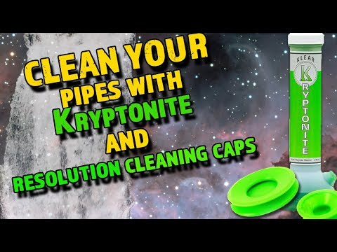 video:How to super clean your waterpipe using Klear Kryptonite and ResCaps by ResÖlution!