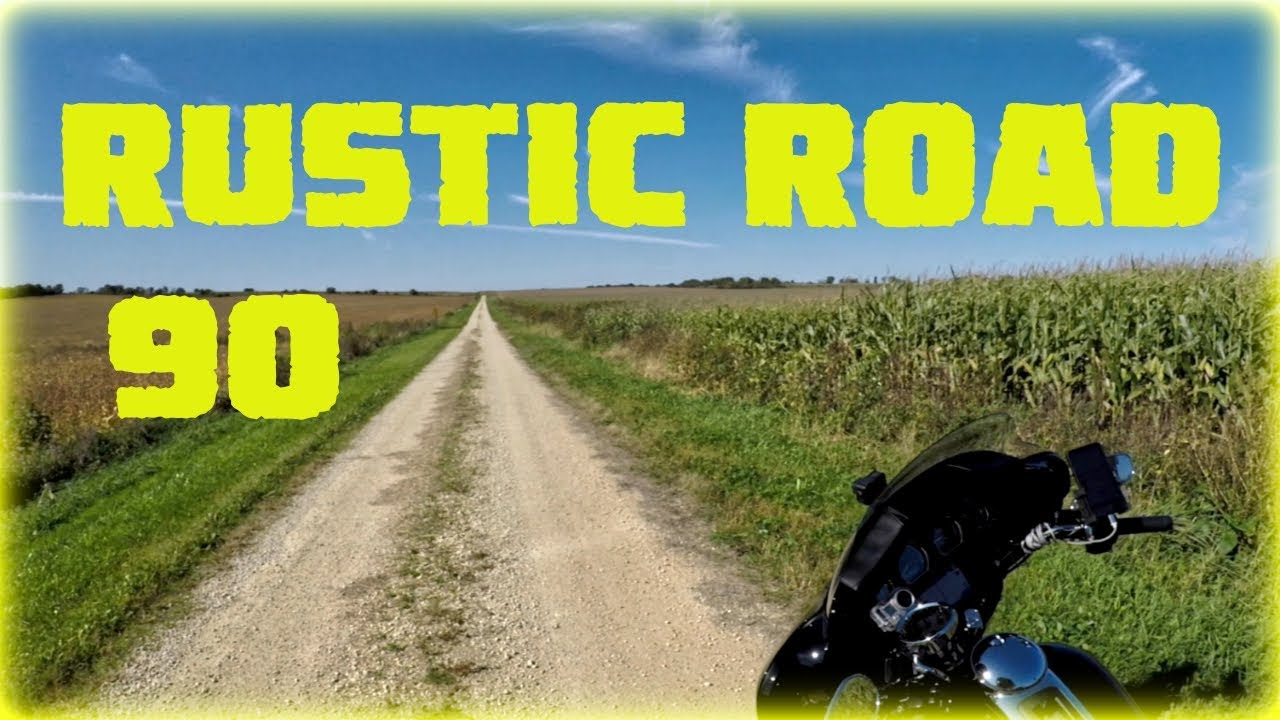 Wisconsin (unpaved) Rustic Road 90 -  MotoVlog