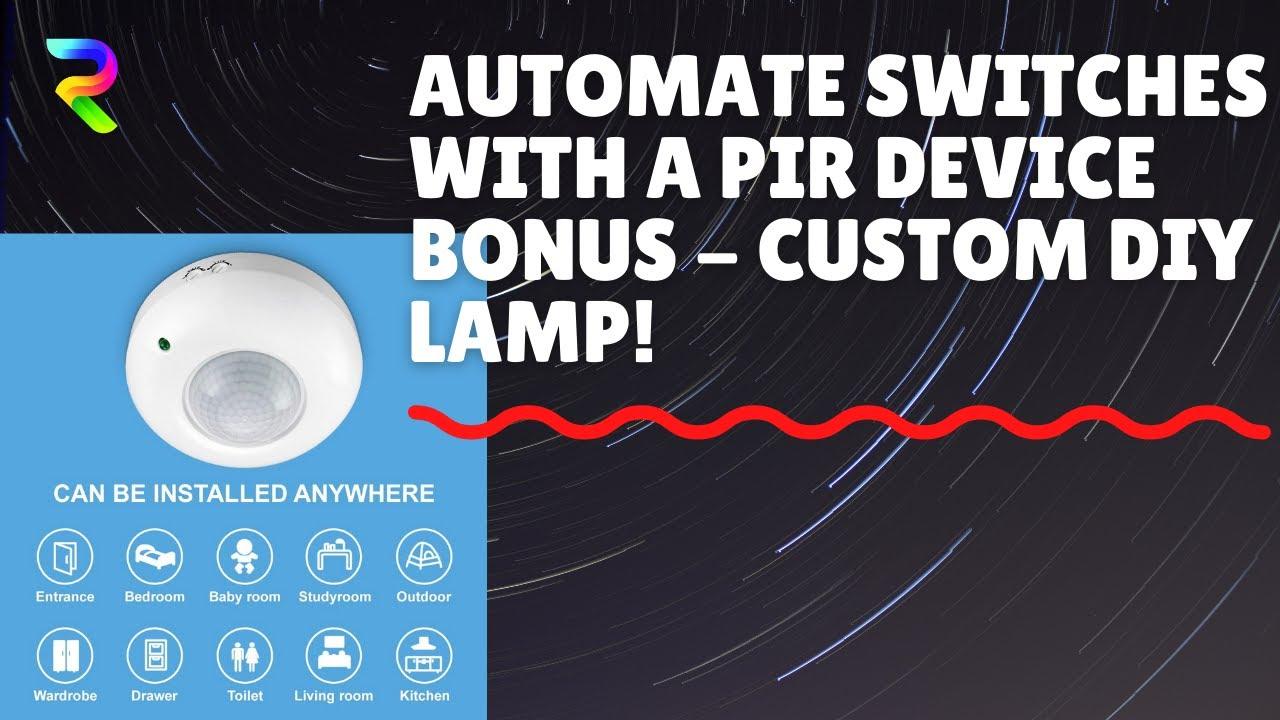 Motion Sensor Light Switch Wiring Diagram Obd0 To Obd1 Vtec Blackt Pir 220v Youtube