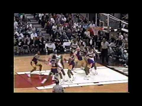 1992 Playoffs LA Lakers@Portland Game 1 HIGHLIGHTS