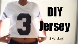 DIY Jersey Shirt - 2 Versions