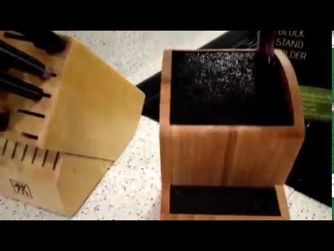 Cool Universal Knife Block 2-Tier Knives Set Holder Review