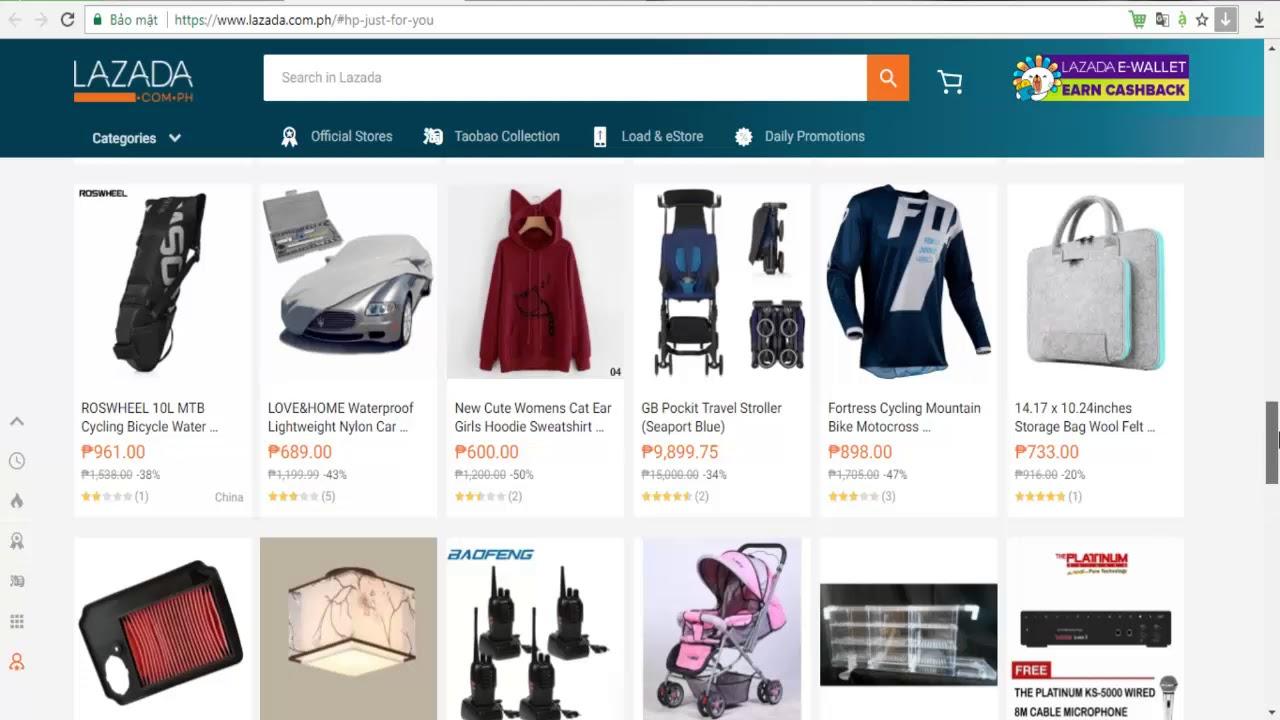 Online Shopping 2018 - Lazada ( Philippines ) - YouTube