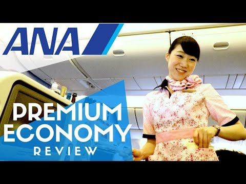 ANA Premium Economy Flight Review + All Nippon Airways Lounge at Narita