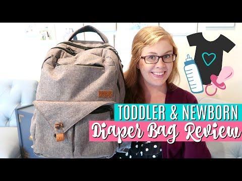 What's in My Diaper Bag? | HapTim Diaper Backpack Review | TODDLER & NEWBORN ESSENTIALS