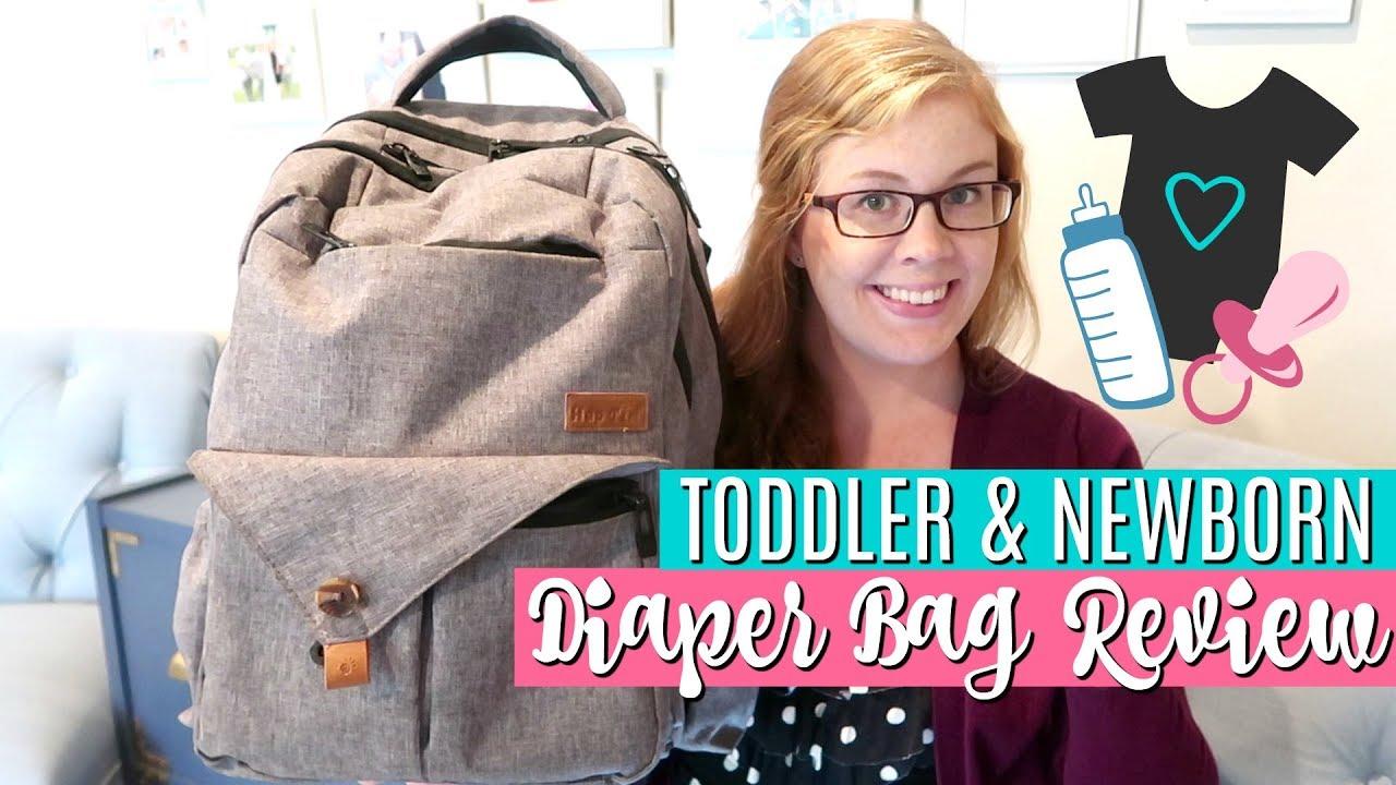 8a6ae51a2f970 What's in My Diaper Bag? | HapTim Diaper Backpack Review | TODDLER & NEWBORN  ESSENTIALS