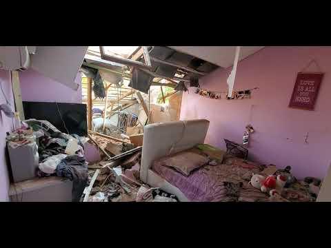 WATCH: Jewish Girl's Bedroom Struck by Islamic Jihad Rocket from Gaza.
