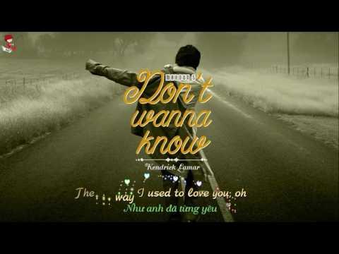 Vietsub+Lyrics Maro 5  Dt Wanna Know ft  Kendrick Lamar