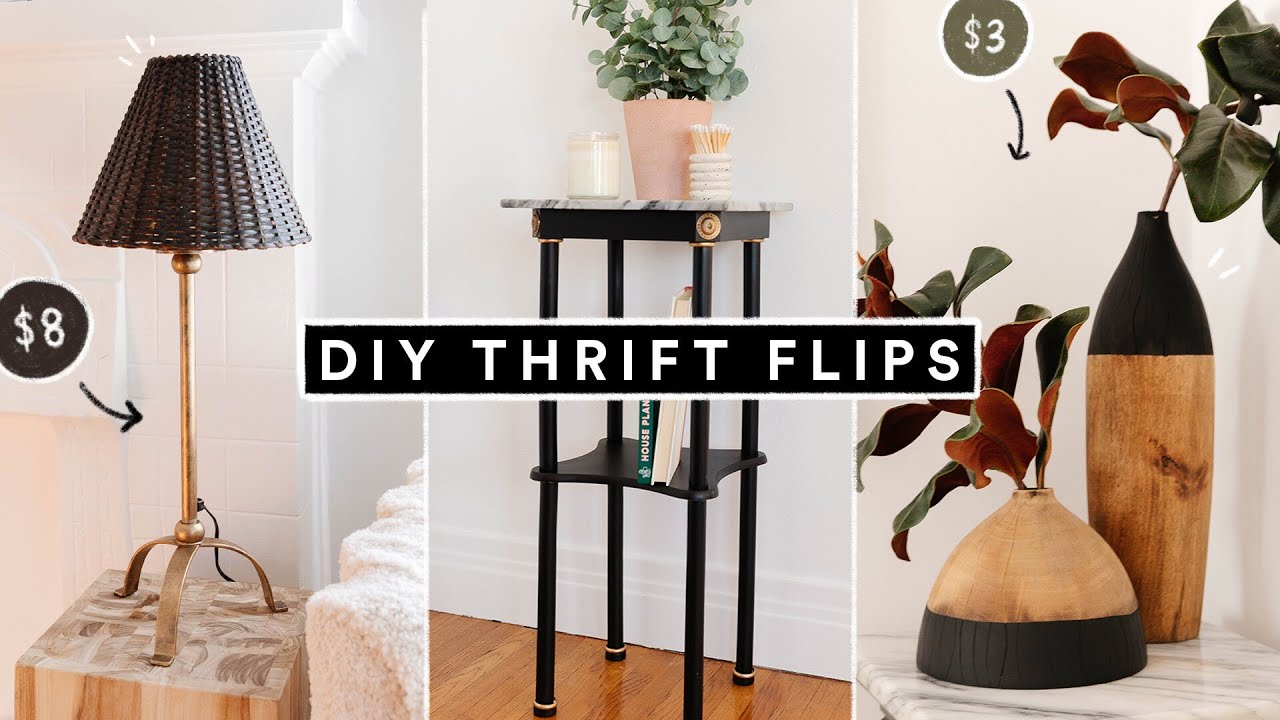 DIY THRIFT FLIP Home Decor On A BUDGET! Affordable + Easy Transformations!