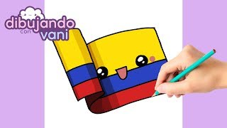 Como Dibujar Bandera De Colombia Kawaii Dibujos Imagenes Faciles Anime Para Colorear Youtube
