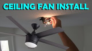 Ceiling Fan Install/Replacement With Power On (Skill Level = 2 Beers)