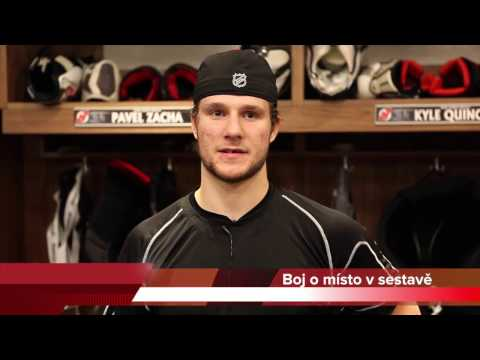 Pavel Zacha po zápase proti Ducks 18.10.2016 - NHL