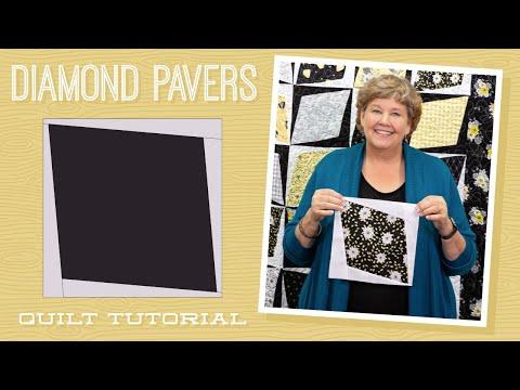 "Make a ""Diamond Pavers"" Quilt with Jenny Doan of Missouri Star (Video Tutorial)"
