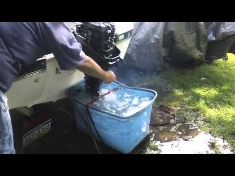 1988 Sears Gamefisher Force Chrysler 9.9 Outboard Running After Water Pump Impeller Change