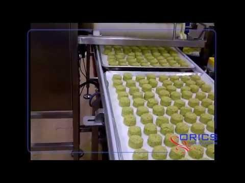 ORICS Falafel Machine and Pan Carrying Conveyor  FRM-8 8-up