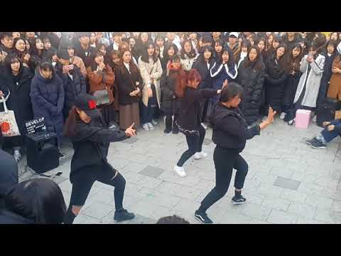 [디벨롭☆DEVELOP]BLACKPINK ☆BBHMM REMIX☆ COVER 홍대버스킹 20171225월 [Hongdae Kpop Street Dance]