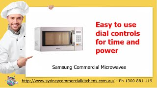 Samsung Commercial Microwaves & Restaurant Equipment(http://www.sydneycommercialkitchens.com.au/catering-equipment/microwaves/Samsung Samsungs range of professional microwave ovens offers something for ..., 2014-11-27T02:15:17.000Z)