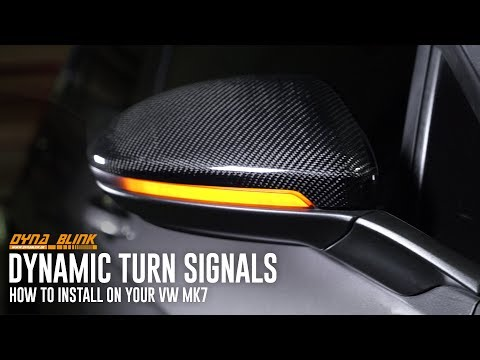 "Dynamic Blink ""Dynamic Scroll"" LED Turning Signal Install 