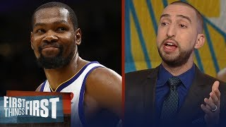 Nick Wright on Durant's Game-3 night in Warriors' win over LeBron's Cavs | NBA | FIRST THINGS FIRST
