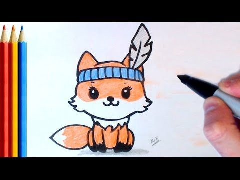 How To Draw Cute Fox Simple Step By Step Tutorial Youtube
