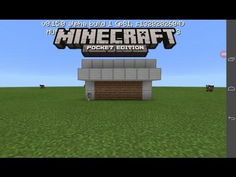 Working Garage Door Minecraft Pe 0 15 0 Youtube