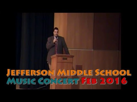 Jefferson Middle School (Jamestown, NY)- concert Feb 2016 (including speeches)
