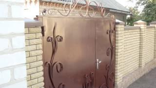 Недорогие кованые ворота с калиткой.  Декоративная накладка на ворота(, 2016-09-10T11:36:06.000Z)