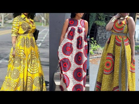 African Fashion : Ankara Maxi Dress Styles || Simple Ankara
