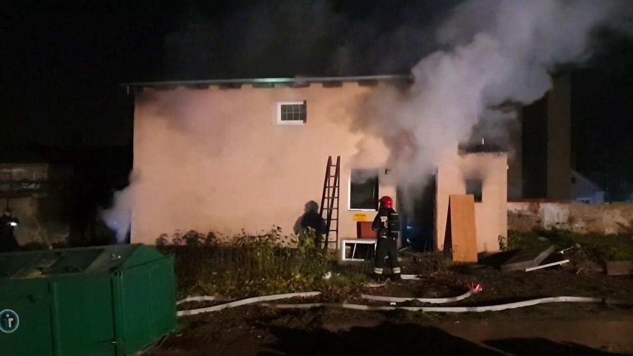 Pożar pustostanu po byłej stolarni w Zielonej Górze