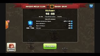 TOP UZB CLAN WAR  ANGOR MEGA CLAN VS DOBRI BRAT BEST ATTACK 3 STARS WAR IN CLASH OF CLAN