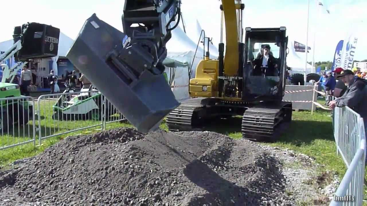 small resolution of cat 312d with sb tiltrotator maskinexpo 2011