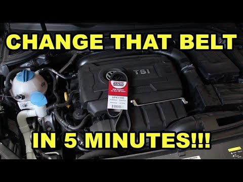 2012-2015 VW Passat 1.8T Serpentine Belt Change