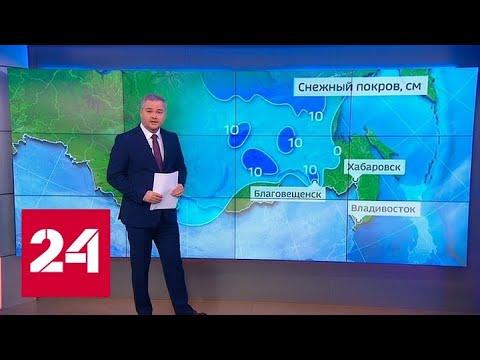 """""""Погода 24"""": берега Амура окутали метели - Россия 24"""