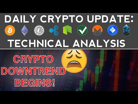 CRYPTO DOWNTREND BEGINS, I WAS RIGHT! (11/30/17) Daily Update + Technical Analysis