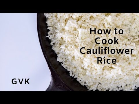 How to cook Cauliflower Rice (puffy & dry)
