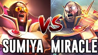 Miracle vs SumiYa Invoker Battle Dota 2