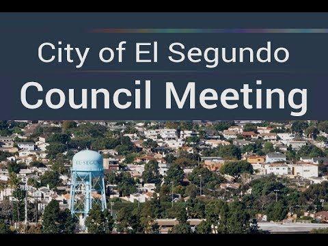 City of El Segundo City Council Meeting - Tuesday, September 5, 2017
