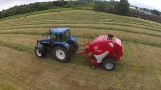 Round Baling NH TM 155 + Lely Welger RP235 and NH TS115 + McHale 991BJS