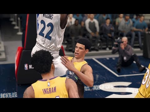 NBA Live 18 Gameplay | Los Angeles Lakers vs Minnesota Timberwolves (Lonzo Ball Get's Owned)