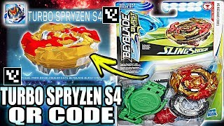 TURBO SPRYZEN S4 QR CODE + ALL SPRYZENS BEYBLADE BURST TURBO APP QR CODES