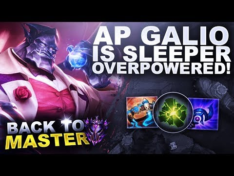 AP GALIO IS SLEEPER OVERPOWERED - Back to Master  League of Legends
