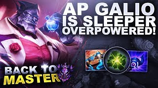 AP GALIO IS SLEEPER OVERPOWERED! - Back to Master | League of Legends