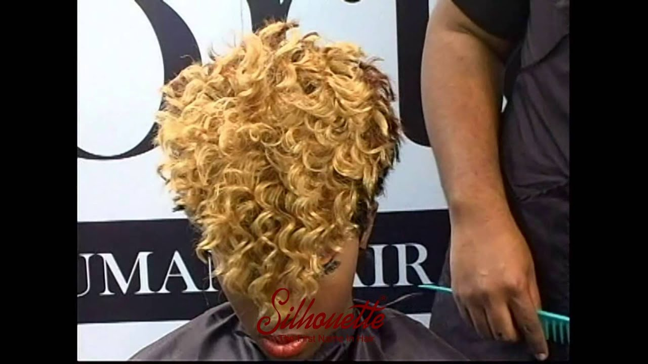 Hair Styling Video With Silhouette New Deep Wave Hair And